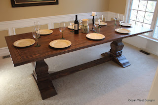"""SAVANNAH"" French Pedestal Table"