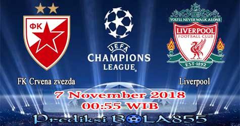 Prediksi Bola855 FK Crvena zvezda vs Liverpool 7 November 2018