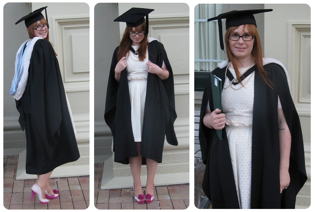 what to wear with black graduation gown