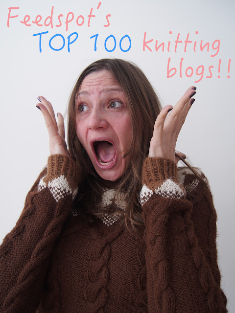 Dayana Knits blog gets Top 100 Knitting Blog Medal!