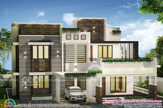 Budget friendly 2222 square feet modern house
