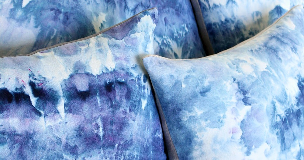 Diy Ice Dye Pillows Blue Pillows For The Sailboat Dans