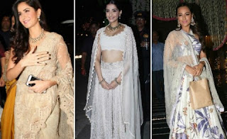 Katrina Kaif, Sonam Kapoor and Sonakshi Sinha came in the party with great make up