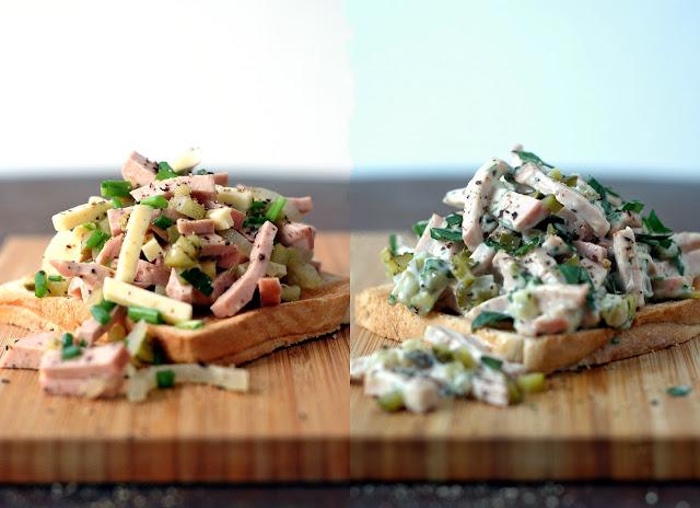 Wurstsalat und Fleischsalat
