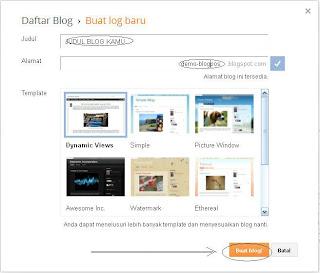 Tutorial Cara Mudah Membuat Blog Gratis di Blogger