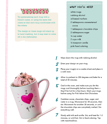 lazy crafternoon  cup project recipe
