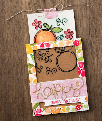VIDEO tutorial for Stampin' Up! Fresh Fruit Magic Card #stampinup
