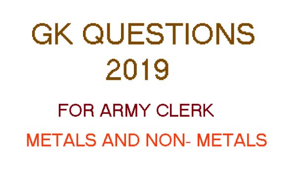 common gk science questions 2019, latest gk questions for army clerk exam 2019