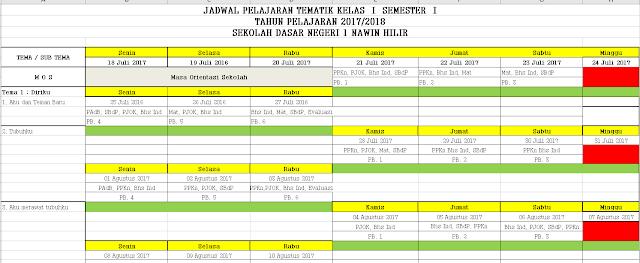 Aplikasi Jadwal Pelajaran Kurikulum 2013 Format Excel