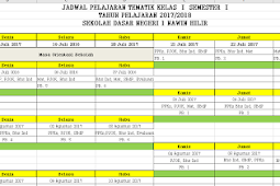 Contoh Jadwal Pelajaran Kurikulum 2013 Aplikasi Excel