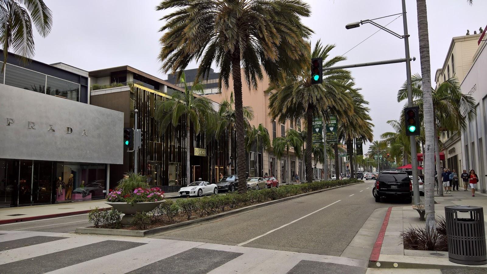Rodeo Drive Los Angeles kiertoajelu Mallaspulla matkakertomus