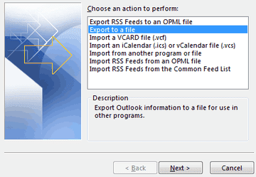 export to file