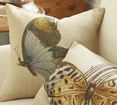 Head Above Water Pottery Barn Butterfly Pillow
