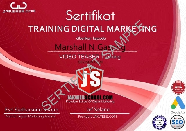 kursus digital marketing murah, belajar digital marketing pemula, sertifikasi digital marketing