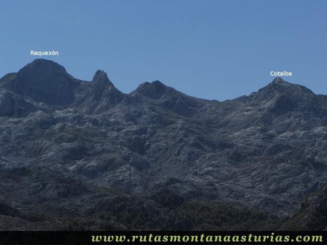 Ruta Lagos de Covadonga PR PNPE-2: Vista del Requexón y Cotalba desde el Mosquital
