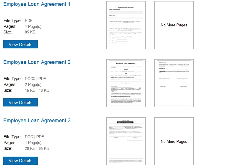 employee loan agreement template free - 28 images - free employee - loan templates
