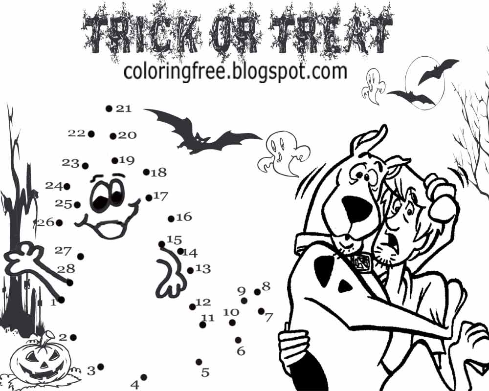Printable Scooby Doo Coloring Haunted Ghost Town Monster Drawing ...