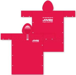 Áo mưa màu hồng in logo quảng cáo JOVEN