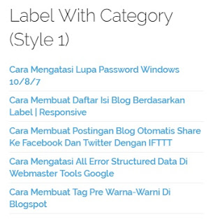 Modifikasi Widget Label by Category