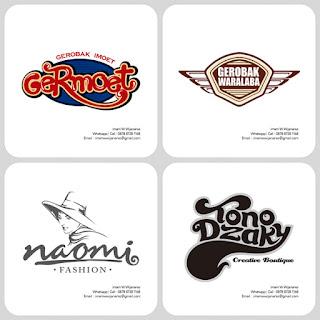 desain logo gerobak waralaba