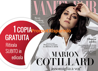 Logo Coupon per ritirare gratis Vanity Fair in edicola