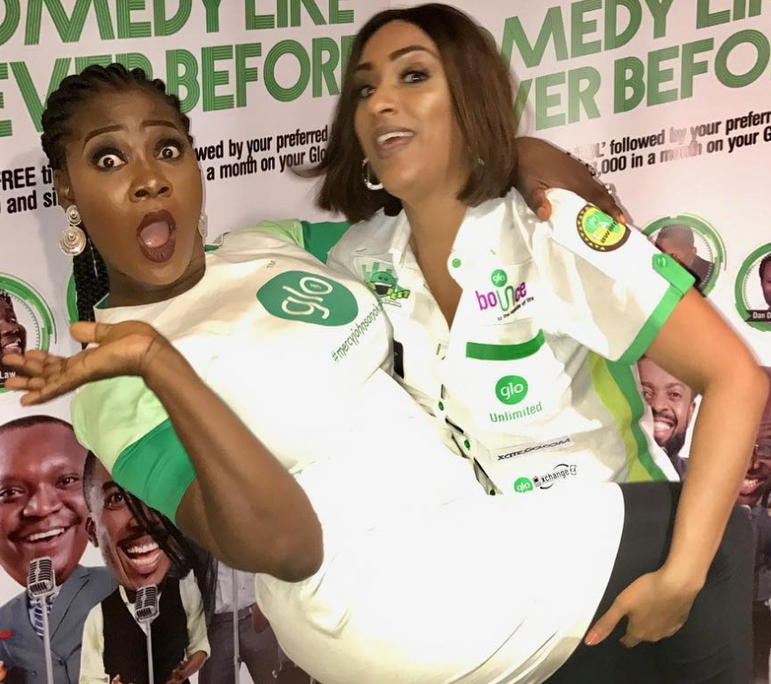 juliet ibrahim carries mercy johnson