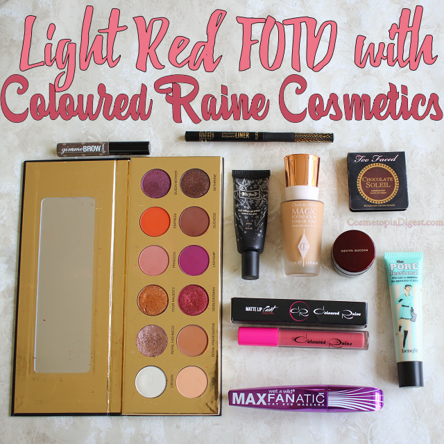 Light Red Makeup Look With Coloured Raine Cosmetics