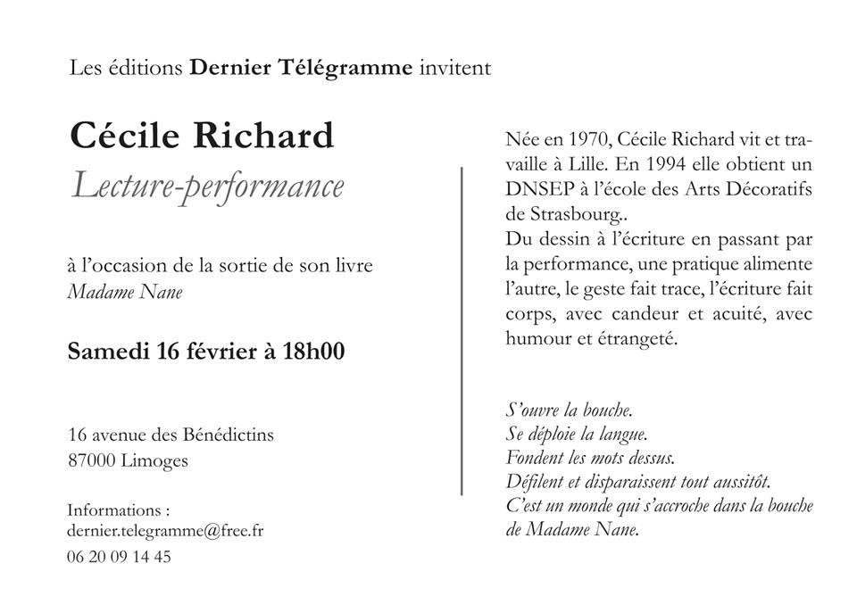 Cécile Richard Poésie Février 2019