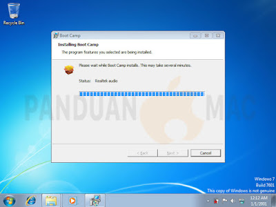 Cara Install Dual Boot Windows 7 di Mac dengan Boot Camp
