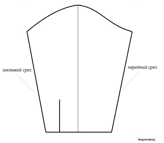 Как построить выкройку короткого рукава