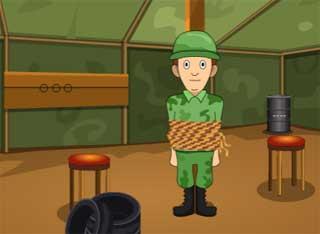 Juegos de Escape - Genie The Military Man Rescue