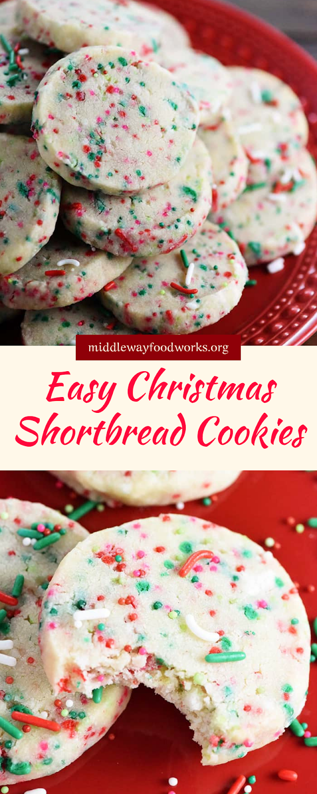 Easy Christmas Shortbread #christmas #cookies
