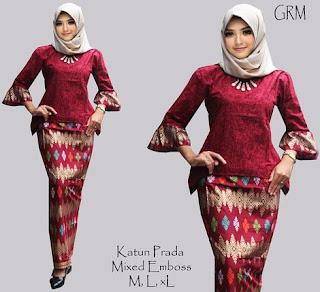 model baju setelan celana batik
