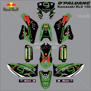 Sticker striping motor stiker Kawasaki KLX 150