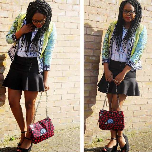 Asos Africa Jacket Lulu Guinness Lip print Bag