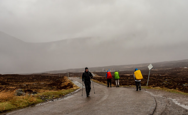 Photo of wet walkers on the West Highland Way