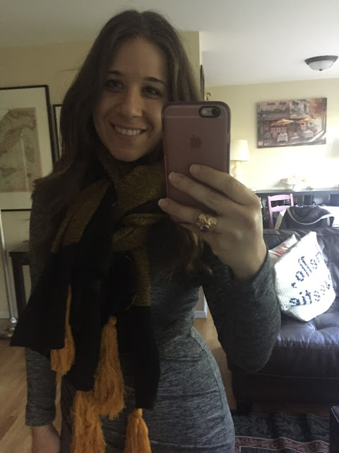 Scarf, Stitch Fix, Unboxing, Fall 2015, Fringe Scarf, Large Scarf