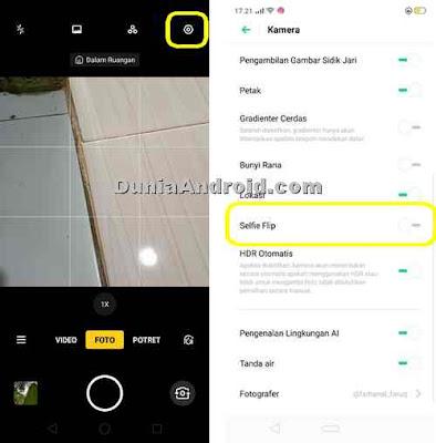 setting kamera Realme 3