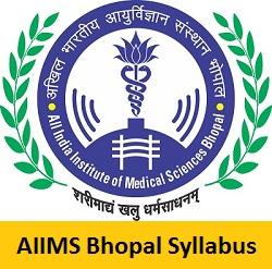 AIIMS Bhopal Syllabus 2017