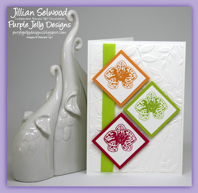 Lemon Lime Twist, Melon Mambo, Peekaboo Peach, Climbing Orchid Stamp set