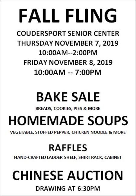 11-7/8 Fall Fling, Coudersport Senior Center