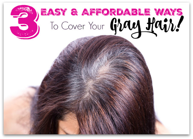 3 Easy & Affordable Ways to Cover Your Gray Hair, Between Hair Salon Appointments Check it on by  Barbie's Beauty Bits.