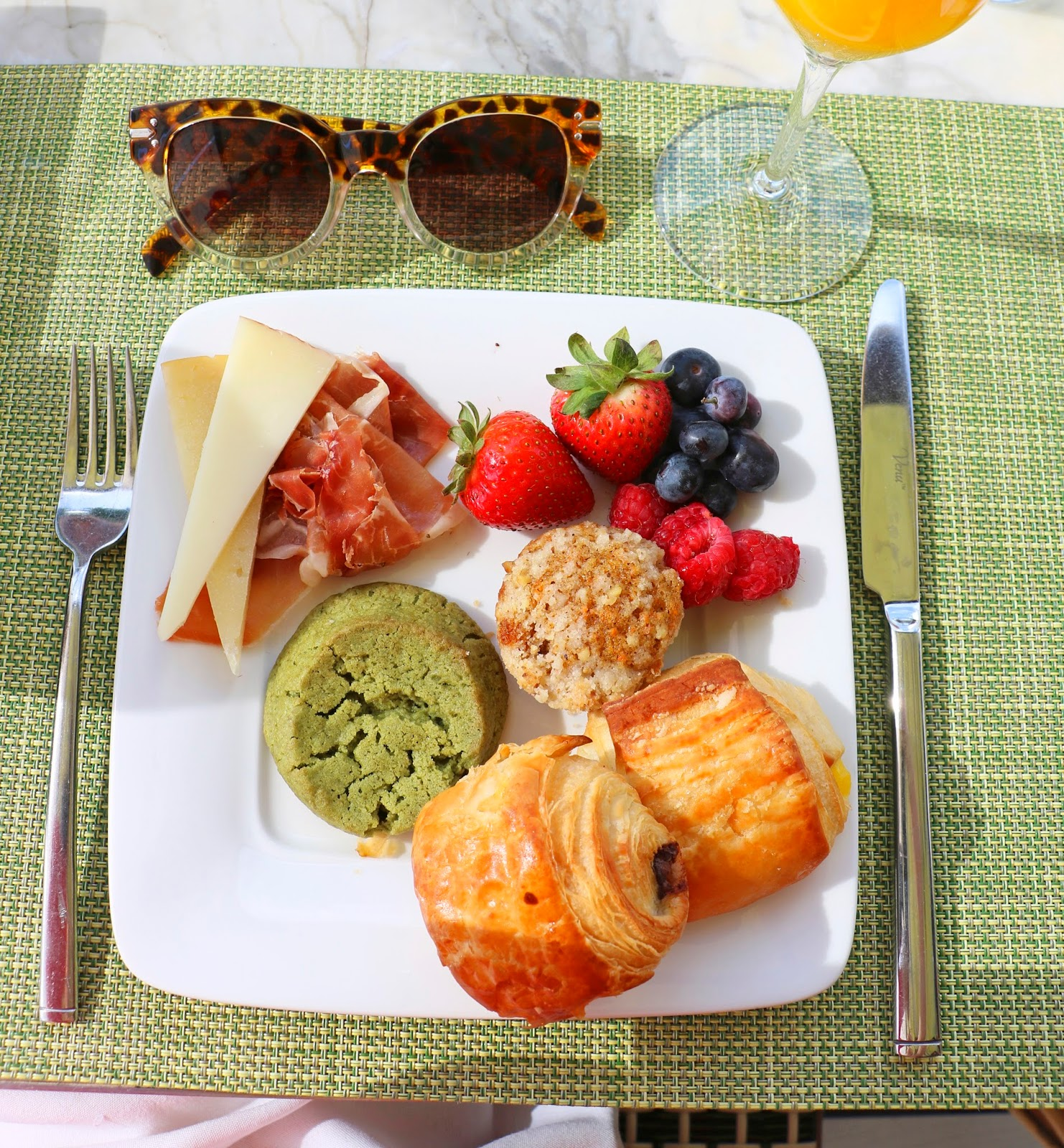 Yummy breakfast vacationing in Miami