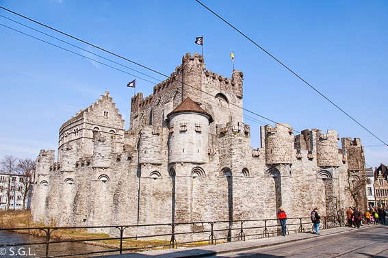 Vista del castillo de Gante