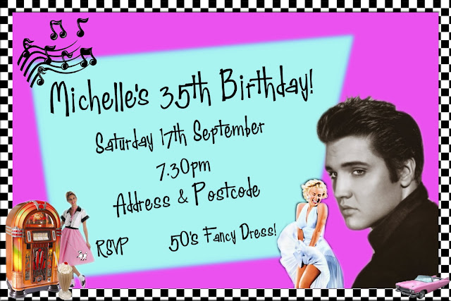 1950s Themed Party Invitation