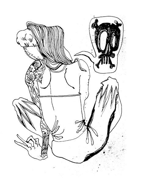 Skull and Cross Bones Comic Art