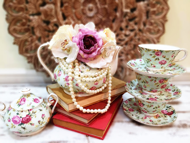 How to decorate using english tea pot by Premiere Design Interiors