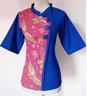 Contoh Model Baju Kerja Batik Modern