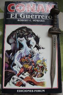 Portada del libro Conan el guerrero, de Robert E. Howard