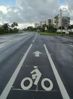 Carril de bicicletas en la A1A
